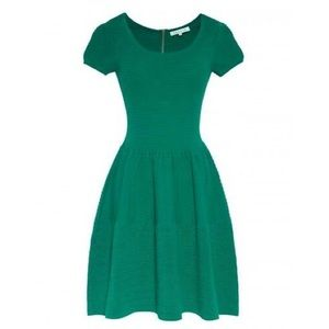 Sandro green knit dress 1 S/M